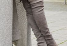 cover photo grey thigh high boots