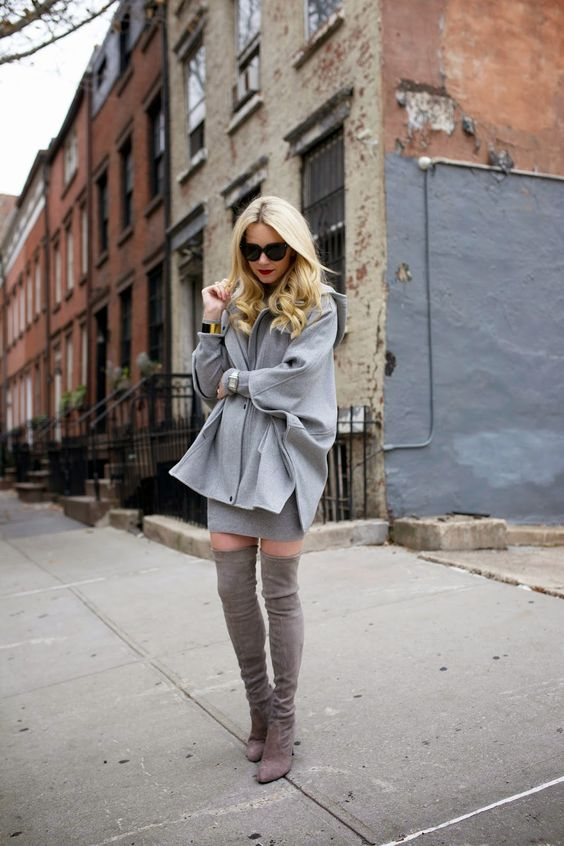 grey on grey thigh high boots