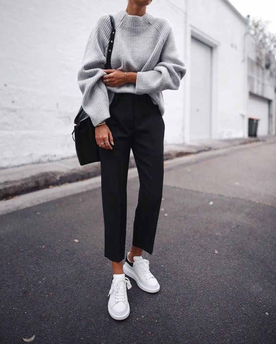 minimal chic sneakers