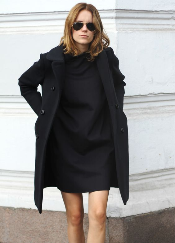 oversized coat shift dress