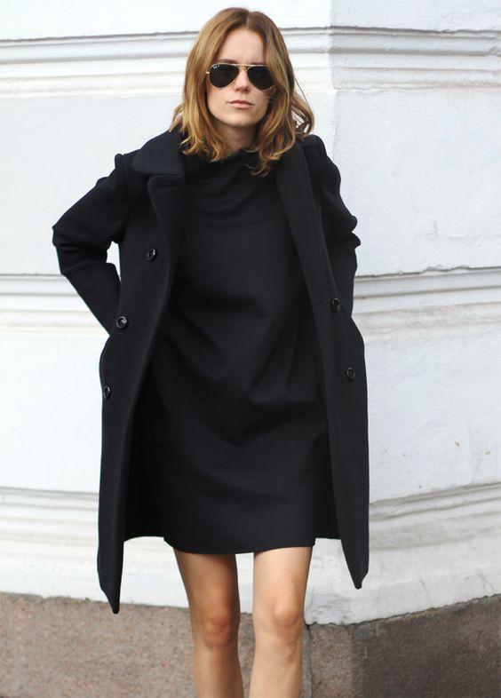 oversized coat shift dress