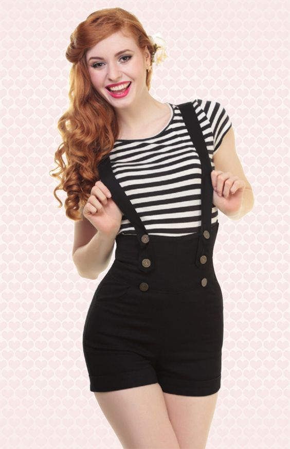 pinup suspender pants