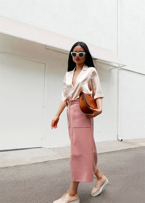 blush top skirt
