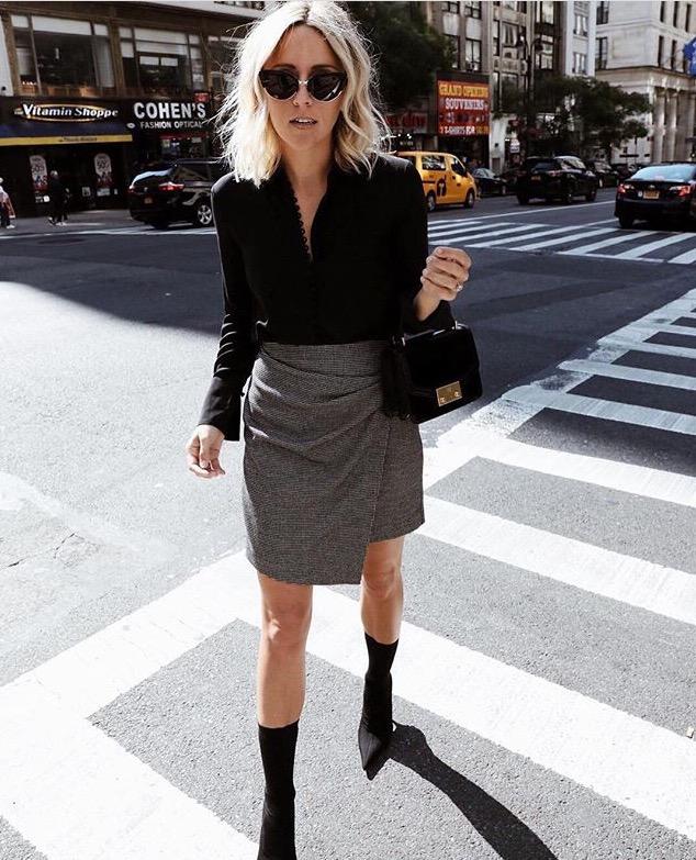 mid calf boots wrap skirt