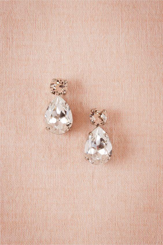 black bridesmaid dresses accessory earrings
