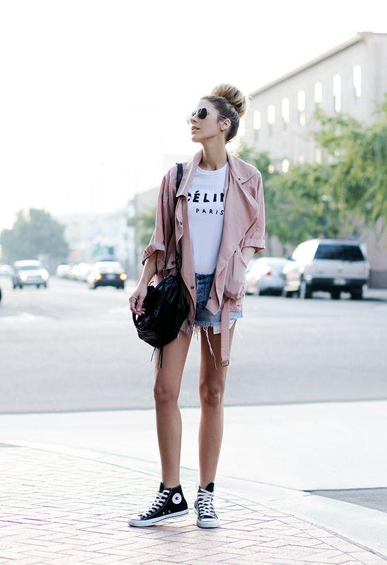 black converse shorts