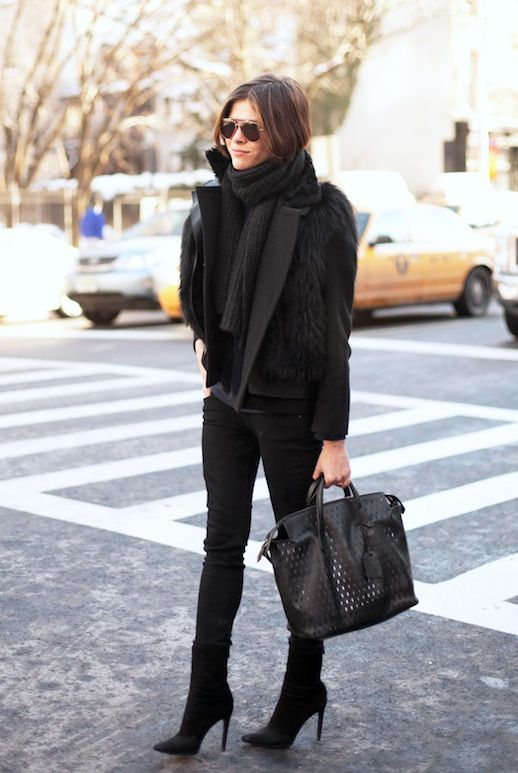 black over the ankle short boots