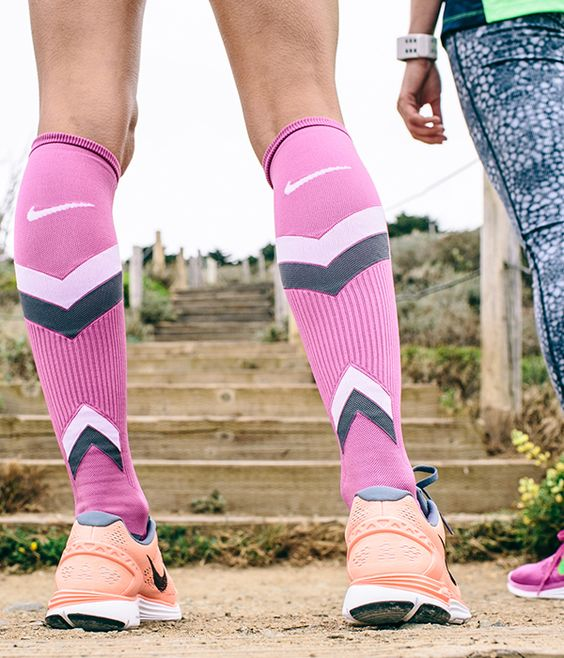blush pink compression socks