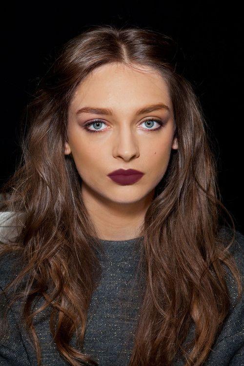burgundy matte lipstick