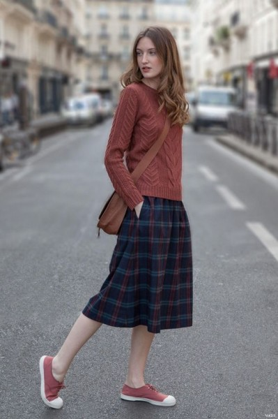 casual cable knit sweter skirt