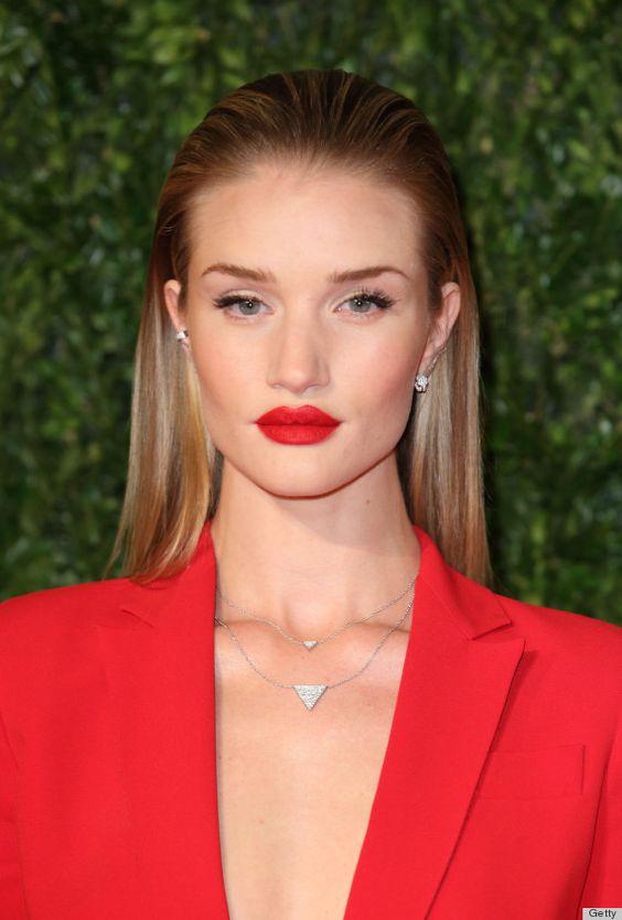 coral red matte lipstick