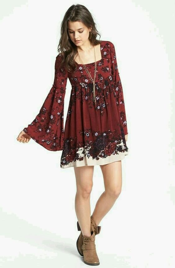 floral boho empire waist dress
