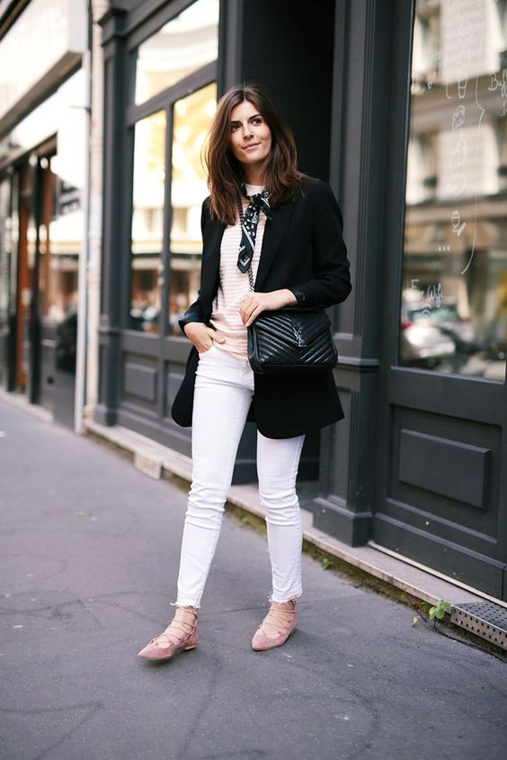 lace up flats white jeans