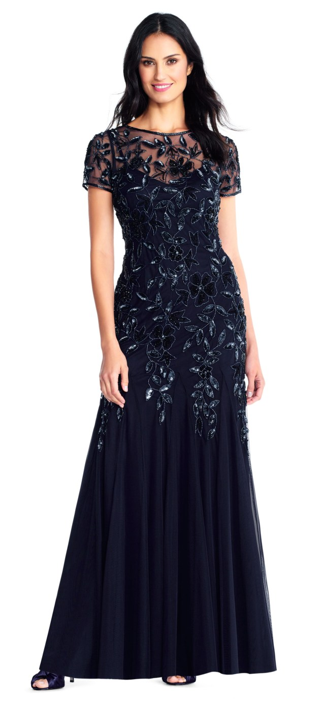 midnigth blue mother of the bride dresses