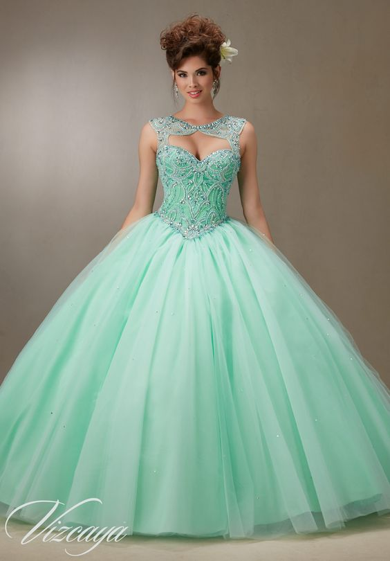 mint quinceanera dress classic