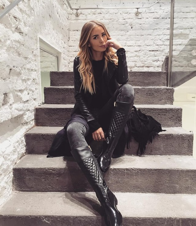 quilted rain boots all black