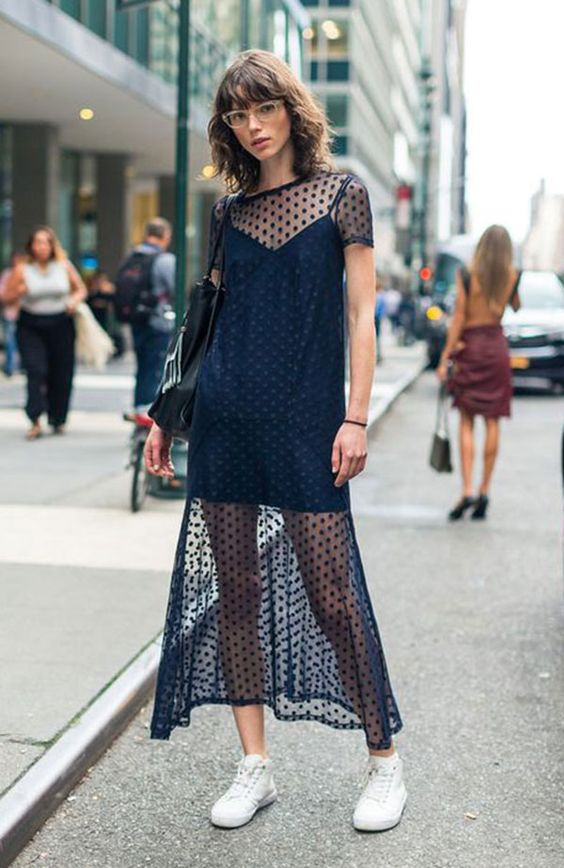 transparent polka dot dress