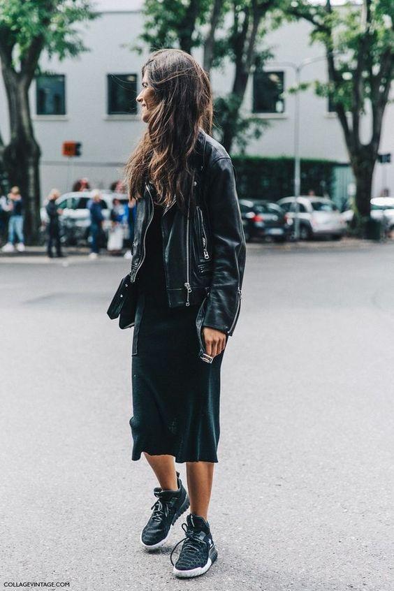 vintage jacket black bodycon dress