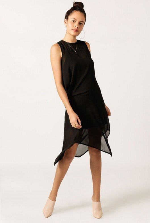 best black midi dress outfit ideas