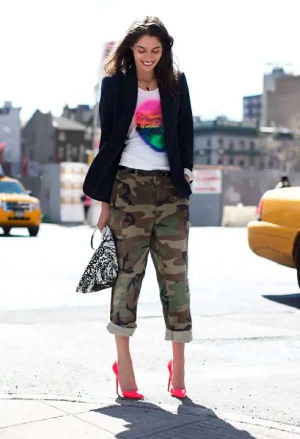14 Amazing Outfits: How to Wear Army Pants for Women ...