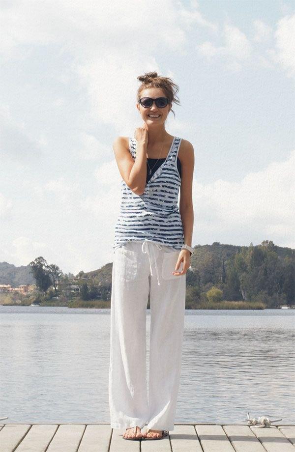 best linen pants outfit ideas