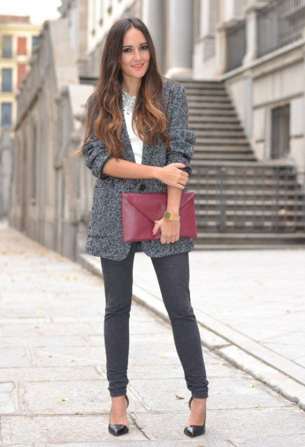 best tweed jacket outfit ideas