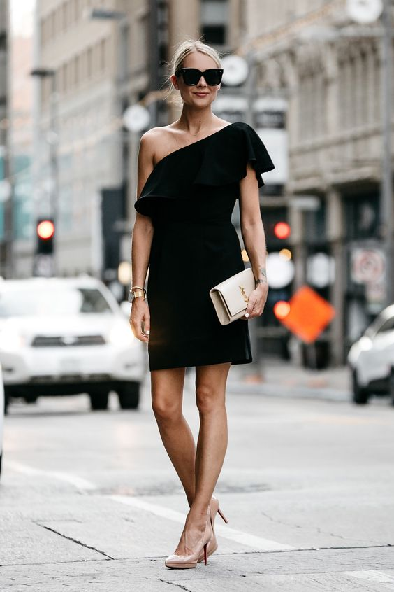 black ruffle dress classic
