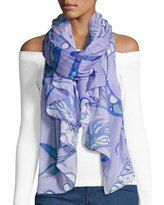 blue chiffon scarf off shoulder white top