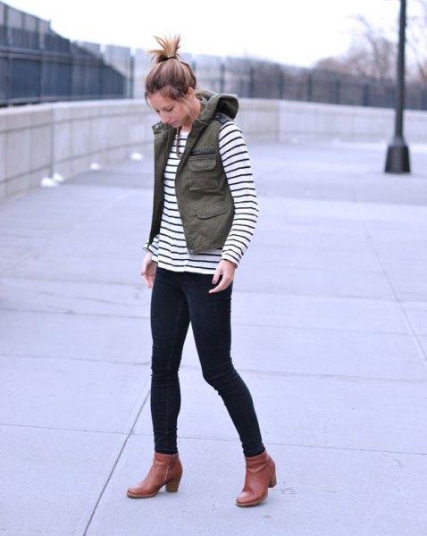Womens fashion cargo vest 74
