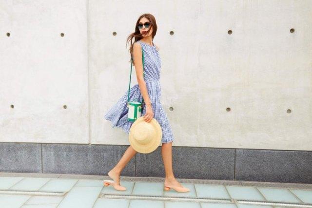 check pattern breezy dress