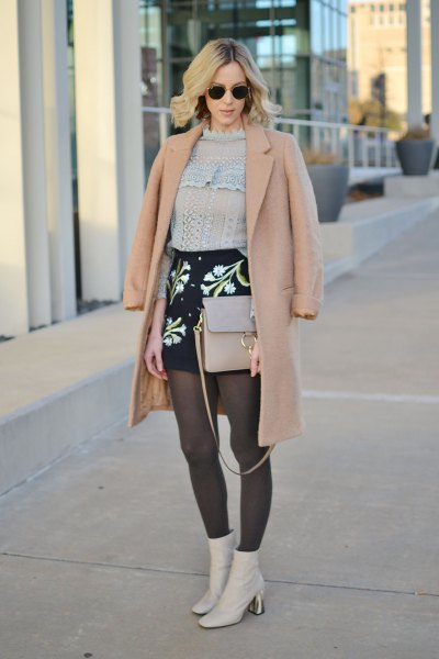crepe wool coat knit sweater outfit