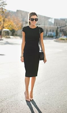 crew neck sheath dress pale pink heels