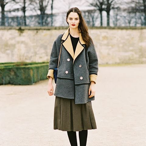 fleece skirt grey wool trench coat