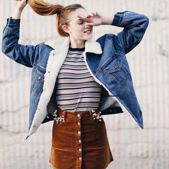 How To Wear Fur Collar Denim Jacket 15 Best Outfit Ideas