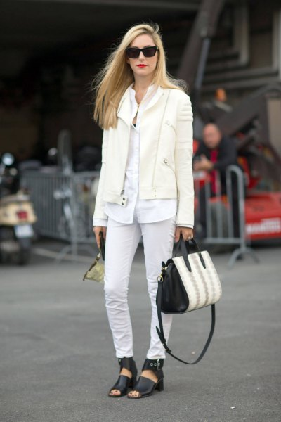 oversized white button up shirt jeans outfit