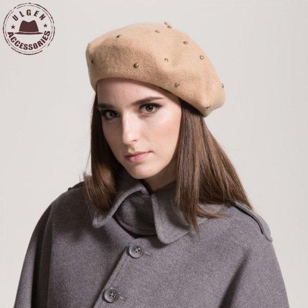 painter rivet hat grey wool trench coat