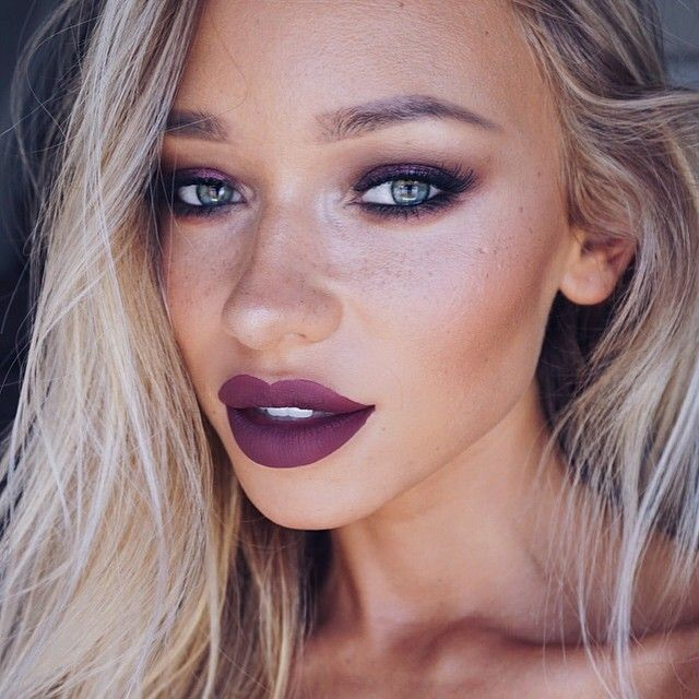 purple lipstick makeup