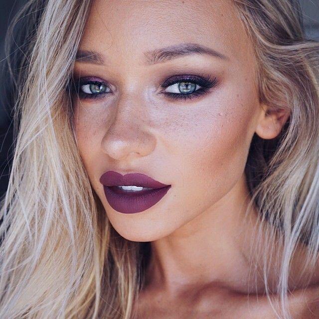 purple lipstick makeup