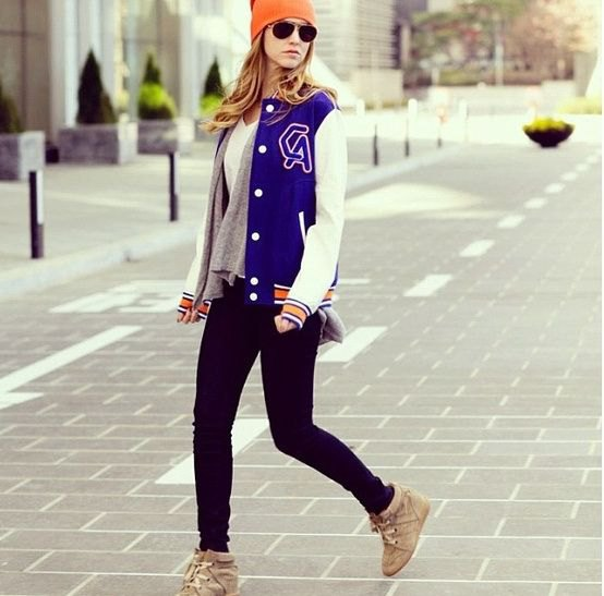 royal blue and white baseball jacket