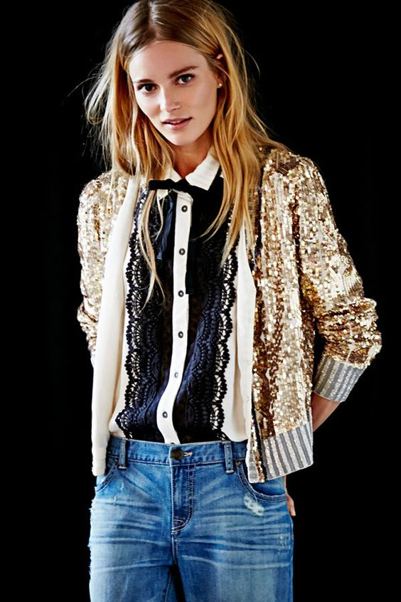 sequin bomber jacket lace