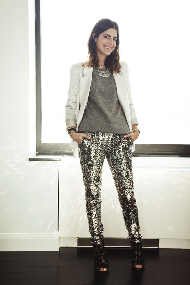 sequin leggings grey sweater