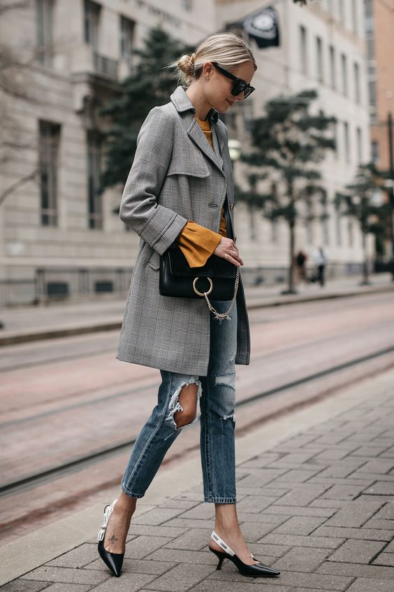 trench coat plaid