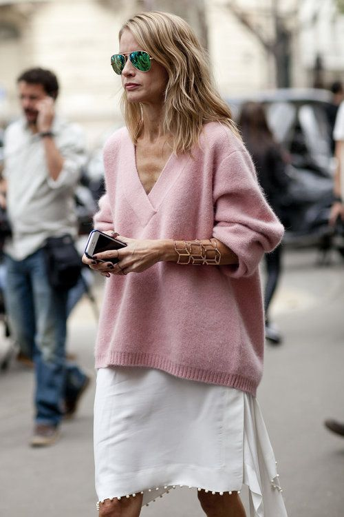 v neck sweater pink love