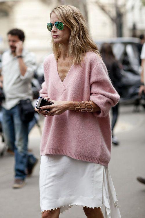 v neck sweater pink love