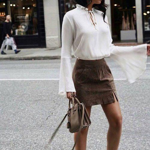 velvet skirt brown mini