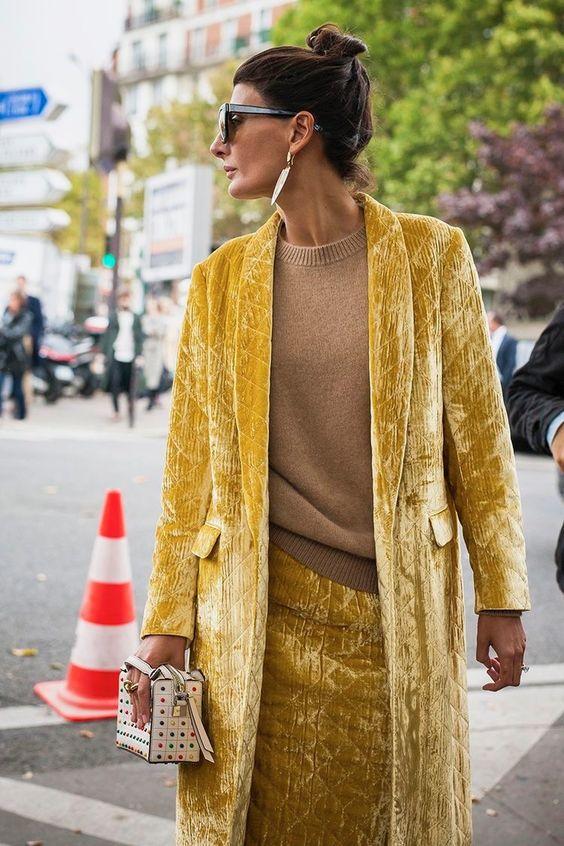 velvet skirt camel sweater