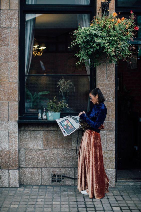 velvet skirt complete velvet outifit