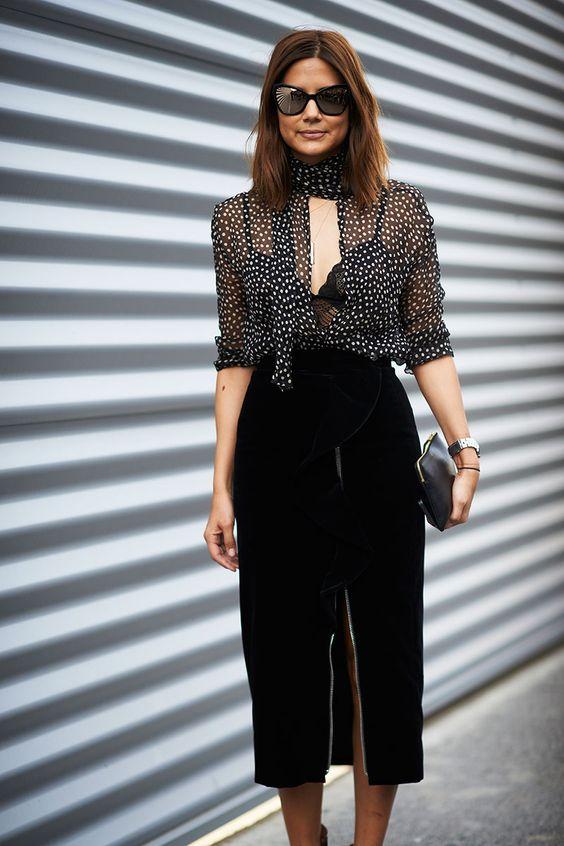 velvet skirt black slit