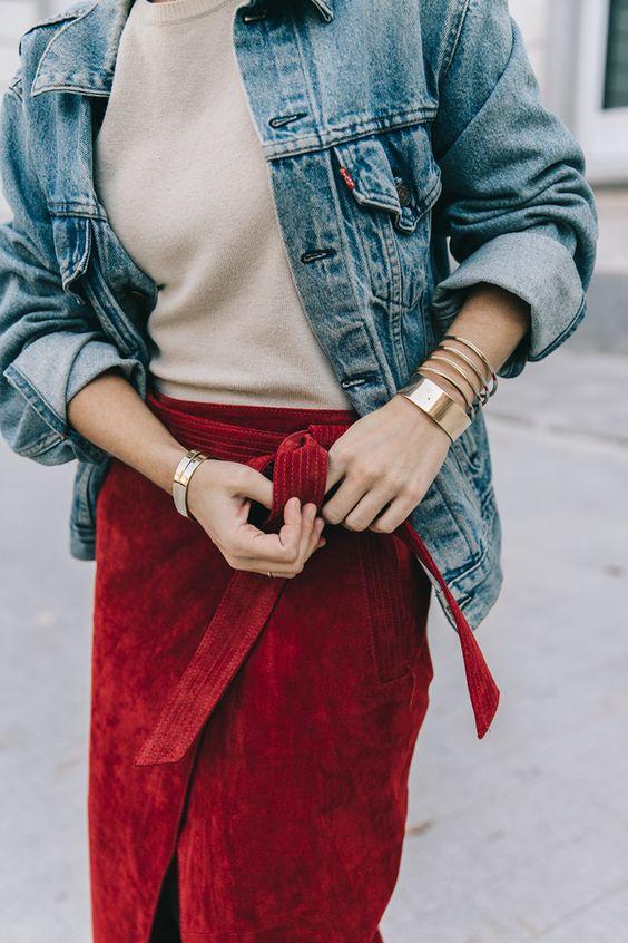 velvet skirt wrap