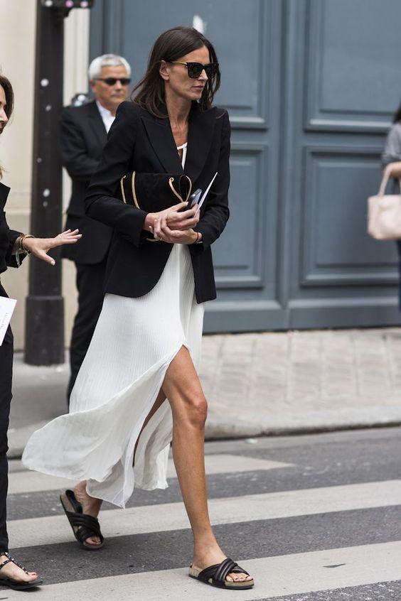white chiffon dress mules